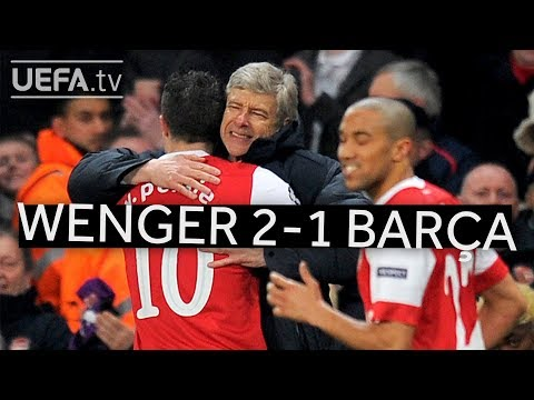 WENGER'S GREAT VICTORIES: Arsenal 2-1 Barcelona
