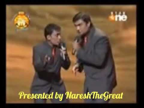 Ali Hasan Irfan Malik with Dia Mirza in The Great Indian Laughter Challenge 2nd semi final Season 2