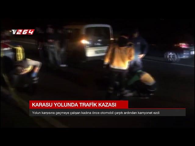 Karasu yolunda trafik kazası