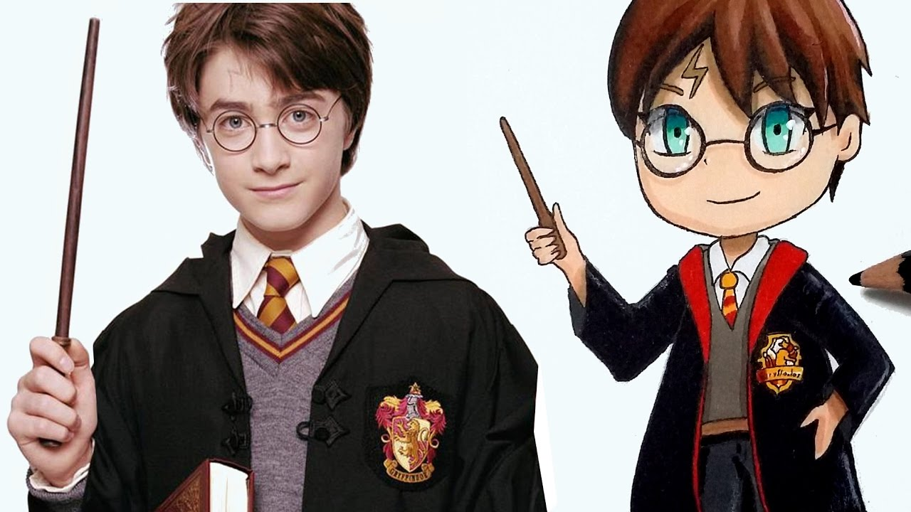 Comment Dessiner Harry Potter En Version Chibi Tutoriel Youtube