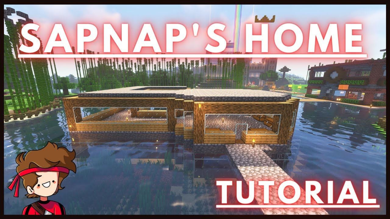 How To Build The Dream Smp Sapnap S House Part 2 Youtube