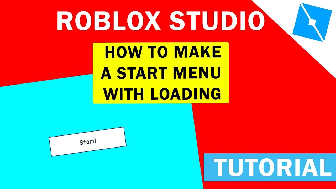 How To Make A Start Menu With A Loading Screen Easy And Quick Roblox Studio - roblox start menu