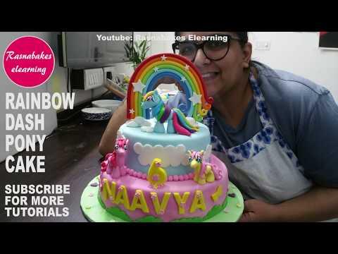 My Little Pony Rainbow Dash Fluttershy Pinkie Pie:Cake Decorating