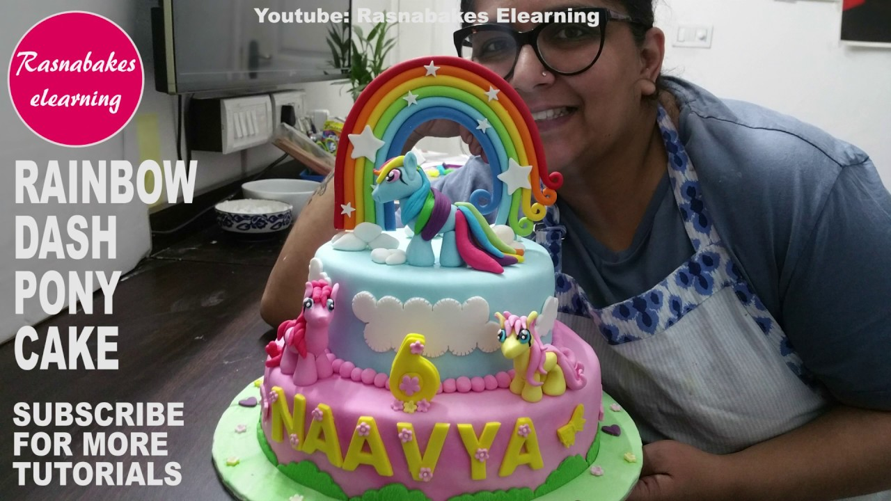My Little Pony Rainbow Dash Fluttershy Pinkie PieCake Decorating