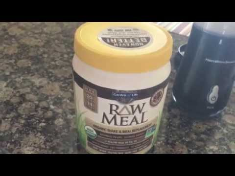 Raw Meal New and Improved Formula Garden of Life RAW Organic Meal Chocolate , 493g Powder