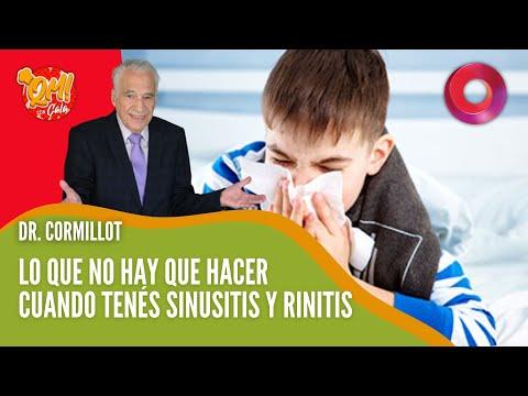 Cómo tratar la sinusitis y rinitis