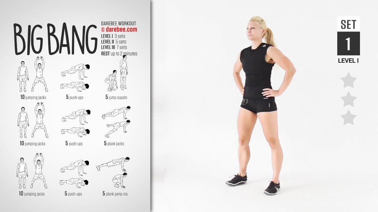 Big Bang Workout By Darebee Full Cardio 20