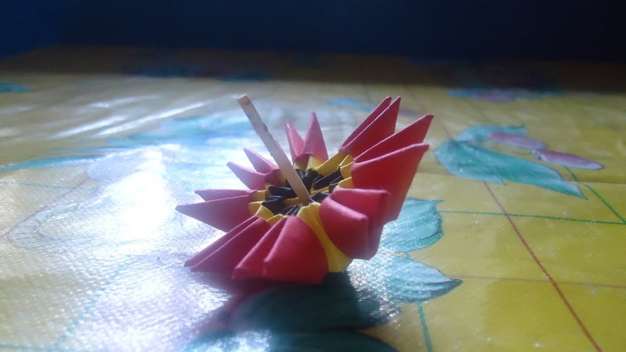 Pirinola de origami 3d terminada youtube - Como hacer una mampara de ducha ...