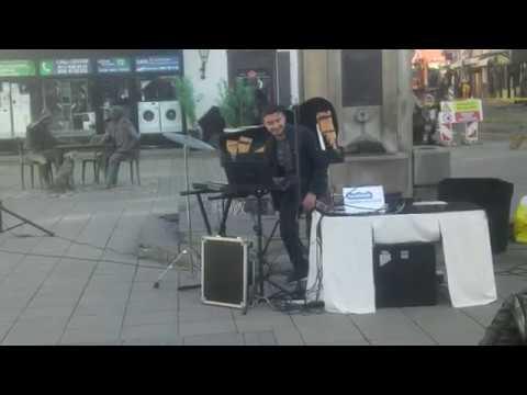Street musician playing some Greek music  :)