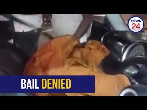 Bail denied for man caught on video beating woman with metal tool