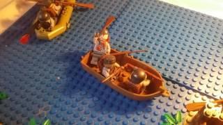 Лего самоделка #13 на тему Вторая Мировая (наступление немцов с воды)