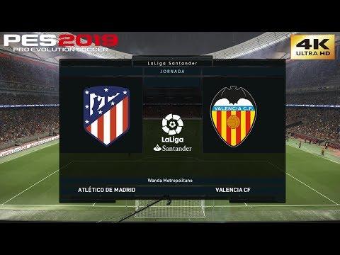 PES 2019 (PC) Atletico Madrid vs Valencia   REALISTIC LA LIGA PREDICTION   24/4/2019   4K 60FPS
