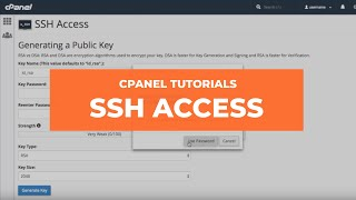 cPanel Tutorials - SSH Access