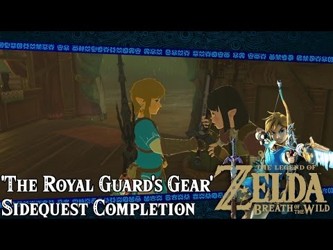 Zelda: Breath of the Wild | The Royal Guard's Gear Side ...