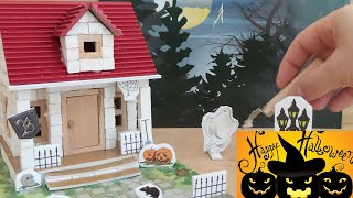 Toy Halloween haunted house unboxing and building
