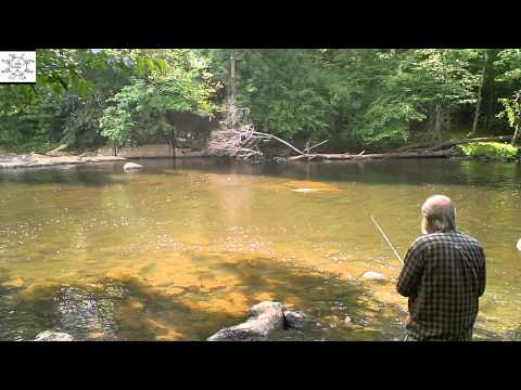 Uncle Steve Fishes A Widening In Deep River