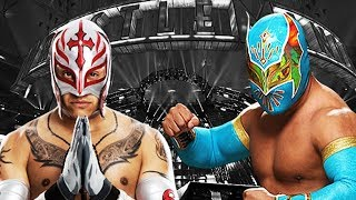 WWE Rey Mysterio  Sin Cara Vs  Cesaro  Jack Swagger   Raw January 27 2014  Match