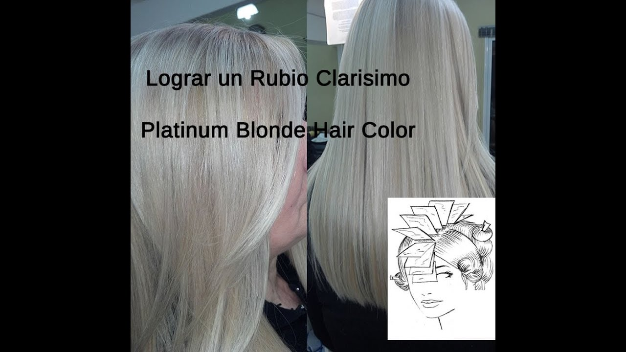 Lograr Color De Cabello Rubio Platino Platinum Blonde
