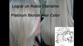 Lograr Color de Cabello Rubio Platino - Platinum Blonde Hair Color