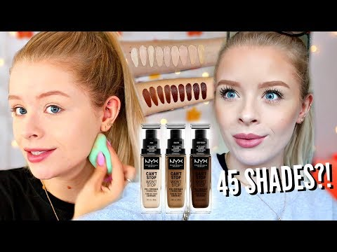 NYX CANT STOP WONT STOP FOUNDATION!! WORTH THE HYPE?! 10 HOUR WEAR TEST  sophdoesnails