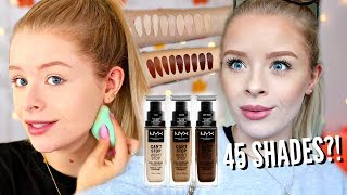 NYX CAN'T STOP WON'T STOP FOUNDATION!! WORTH THE HYPE?! 10 HOUR WEAR TEST | sophdoesnails