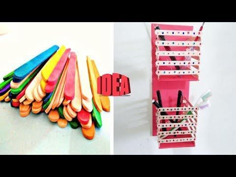 diy--ice-cream-stick-craft-idea_-popsicle-stick-toothbrush-holder-by-life-hacks-360