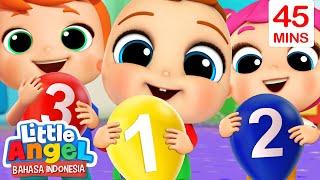 Lihat, Ada Tiga Balon! | Lagu Belajar Angka | Little Angel Bahasa Indonesia