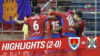 Resumen de CD Numancia vs CD Tenerife (2-0)