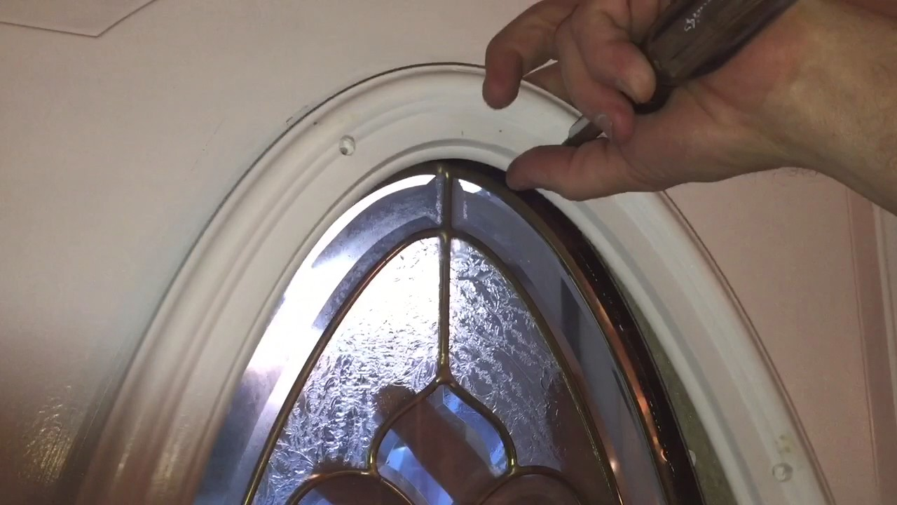 How To Replace The Oval Glass In An Entry Door