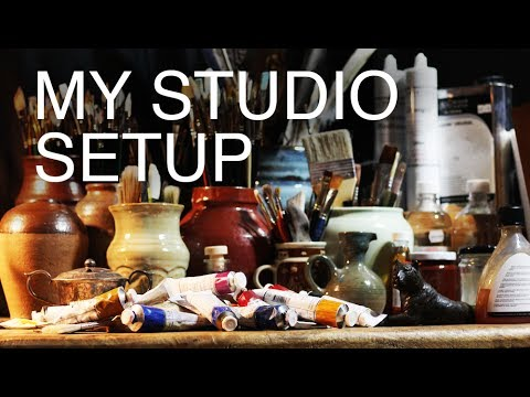 My Studio Setup - How to create an amazing art space (on a budget)