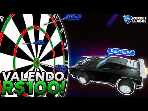 PARTIDA de dardo VALENDO R$100 com Faallcon!!! (Rocket League)