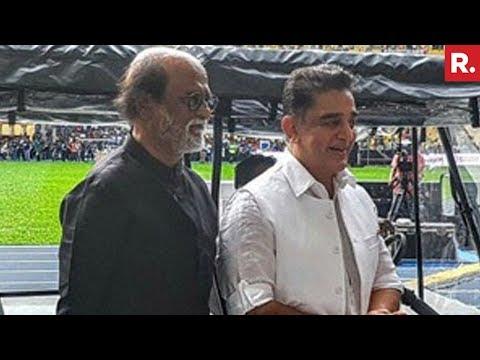 Latest Visuals Of Rajinikanth & Kamal Haasan In Malaysia
