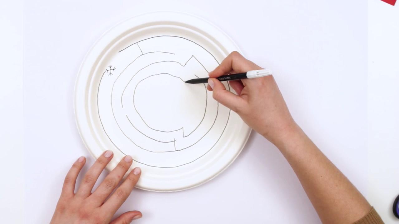 Kagit Tabak Ile Miknatisli Labirent Yapalim Magnetic Paper Plate