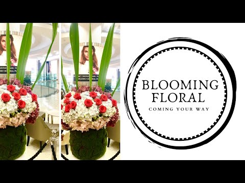 -Floral installation for the shopping mall -