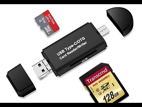 4 in 1 Micro SD to USB Multi-Card Memory Card Adapter Reader Supports 128GB