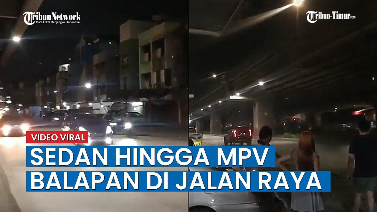 Mobil Sedan Hingga MPV Balapan Liar Di Jalan Raya, Videonya Viral