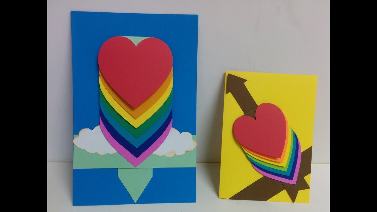 Art And Craft: How To Make Waterfall Card/ Cascade Card