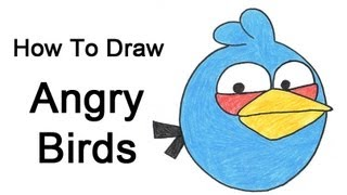 How to Draw Angry Birds (Blue Bird)