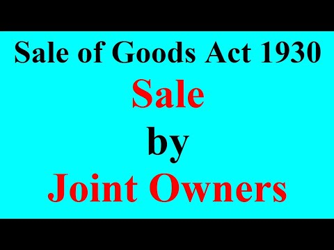 10 Sale by Joint Owner
