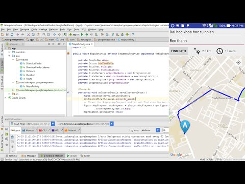 Basic Google Maps API Android Tutorial + Google Maps Directi