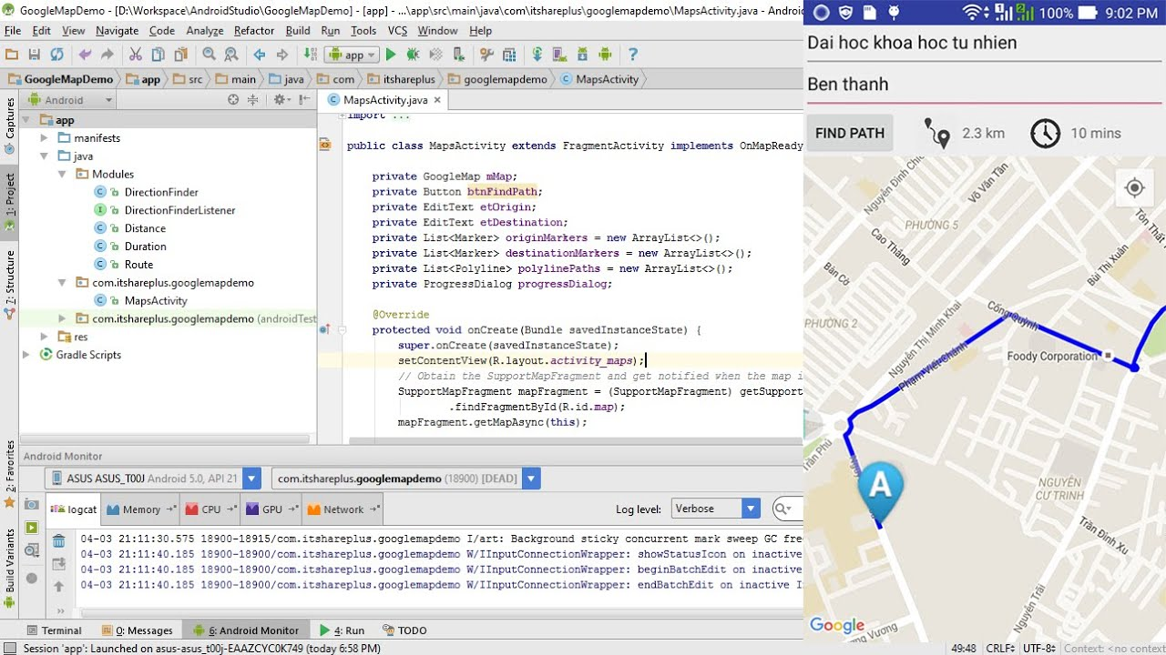 basic google maps api android tutorial google maps directions api youtube