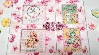 Baby Girl Shabby Chic Baby Book