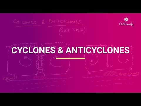 Cyclones & Anticyclones || Characteristics, Difference & Location