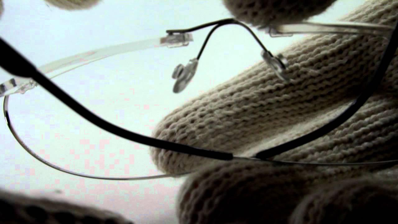 9b139440e8e51 Armação P  Óculos De Grau Sem Aro Em Titanium - YouTube
