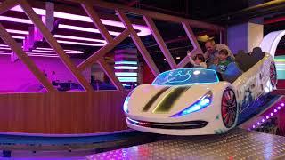 Fatih selim ve yusuf lunaparkta çok büyük yarış arabasına bindiler çok eğlenceli araba videosu
