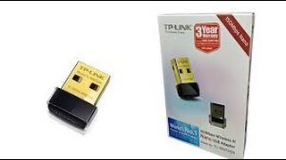 tp link 150mbps wireless n nano usb adapter unboxing and overview