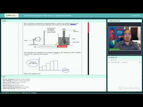 Edufront Webinar - Answering Experiment-Type Question in PSLE Science