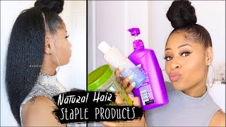 MY STAPLE PRODUCTS for NATURAL HAIR! (everything I use for healthy hair)