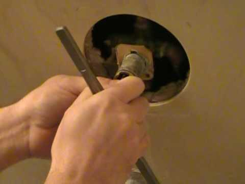 Remove stuck Moen faucet cartridge   YouTube. Installing A Moen Shower Faucet Video. Home Design Ideas