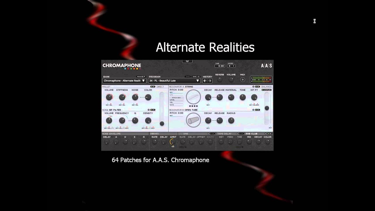 64 Presets, Patches for AAS Chromaphone VST Synth (Ambient, IDM, ethnic,  etc )